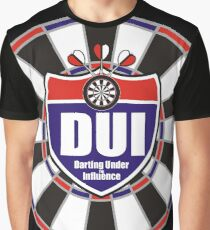 Darting Under the Influence Darts Team Graphic T-Shirt