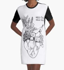 Whole Foods Whole Heart Graphic T-Shirt Dress