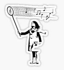 The Music Catcher Sticker