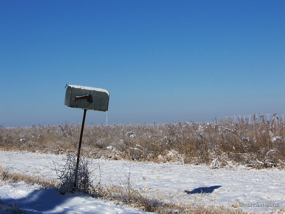 Snowy Mailbox by amandameans