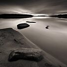 Beach, Rocks and Water II by Anders Naesset