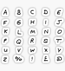 ABC Letter stickers Sticker