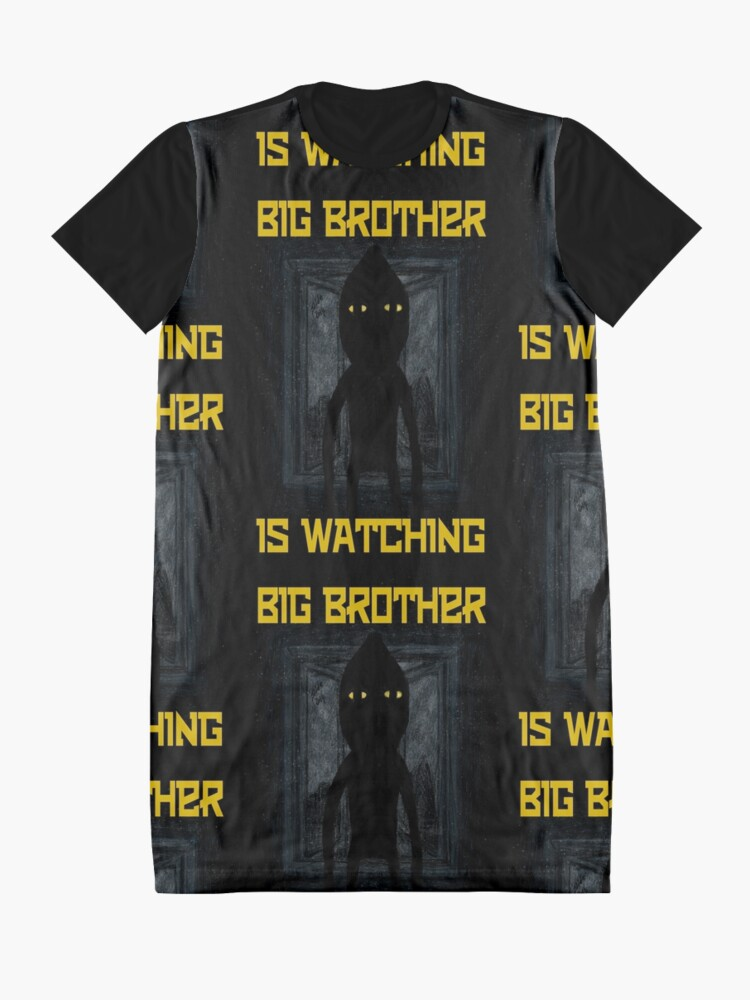 """Alternate view of """"Big Brother"""" Graphic T-Shirt Dress"""