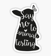 Say no to animal testing Sticker