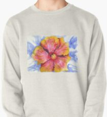 Yellow and Pink Groovy Hibiscus Pullover