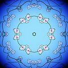 Kaleidoscopic Cherry Blossom Six Clock 1 by Edward Huse