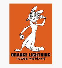 Daxter: Orange Lightning Photographic Print