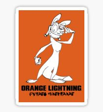 Daxter: Orange Lightning Sticker