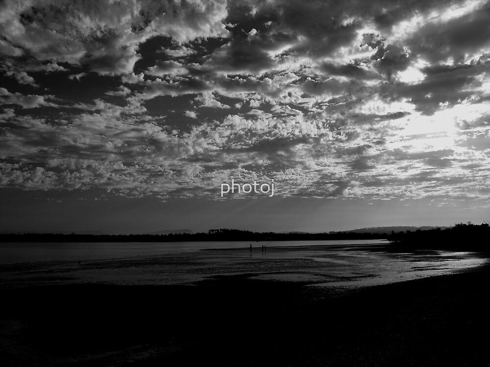 photoj Tas Baker's Beach, 'Black & White Sunset' by photoj