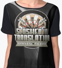 Sloshed In Translation Darts Team Women's Chiffon Top