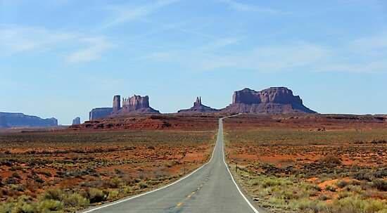 US-163 SCENIC HIGHWAY ARIZONA-UTAH BORDER MONUMENT VALLEY MARCH 2012 by photographized