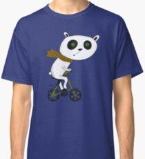 Cute funny panda on bike  Classic T-Shirt
