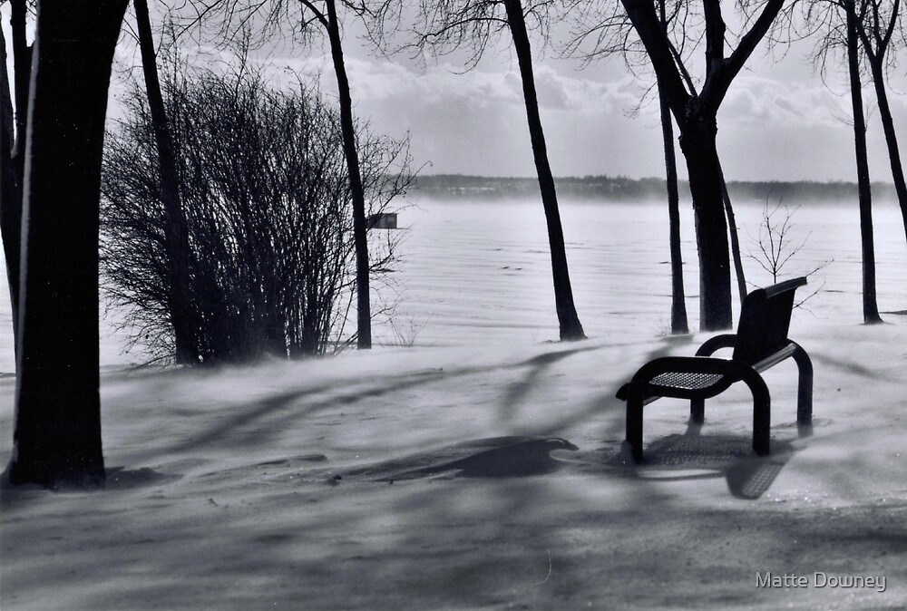 winter bench by Matte Downey