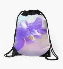 Painted Purple Columbine Drawstring Bag