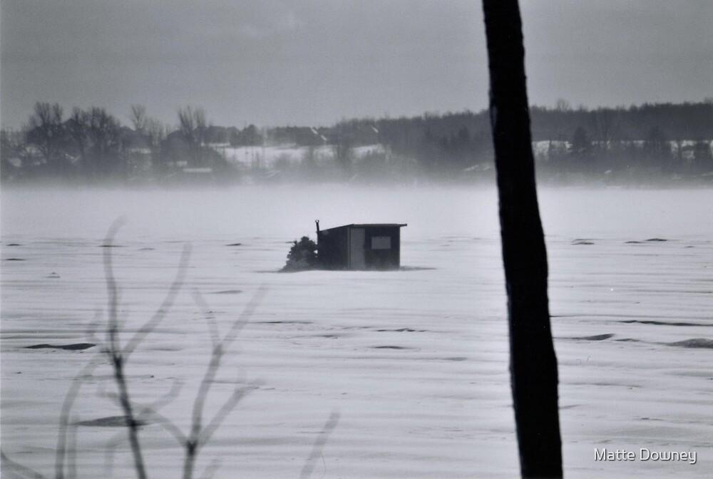 winter lake by Matte Downey