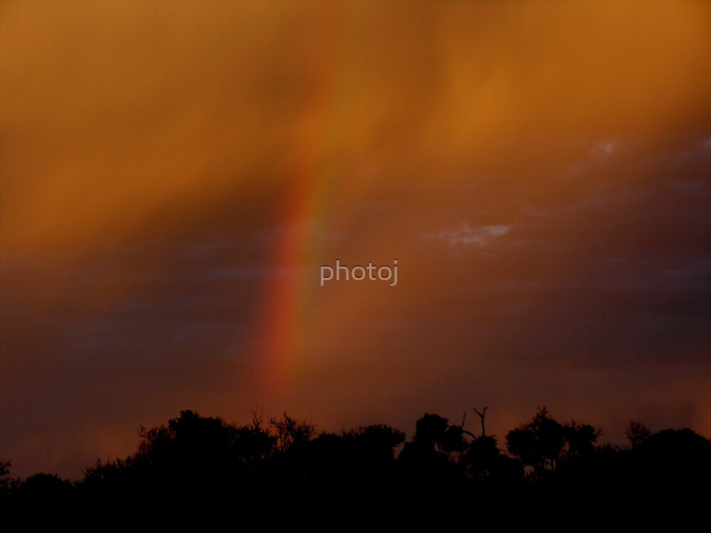 photoj Tas Bakers Beach, Sunset & Rainbow by photoj