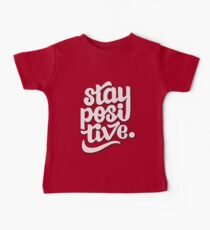 Stay Positive - Hand Lettering Retro Type Design Kids Clothes