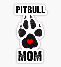 Pitbull Mom Dog Paw Prints Sticker