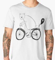 Big bear on bike Men's Premium T-Shirt