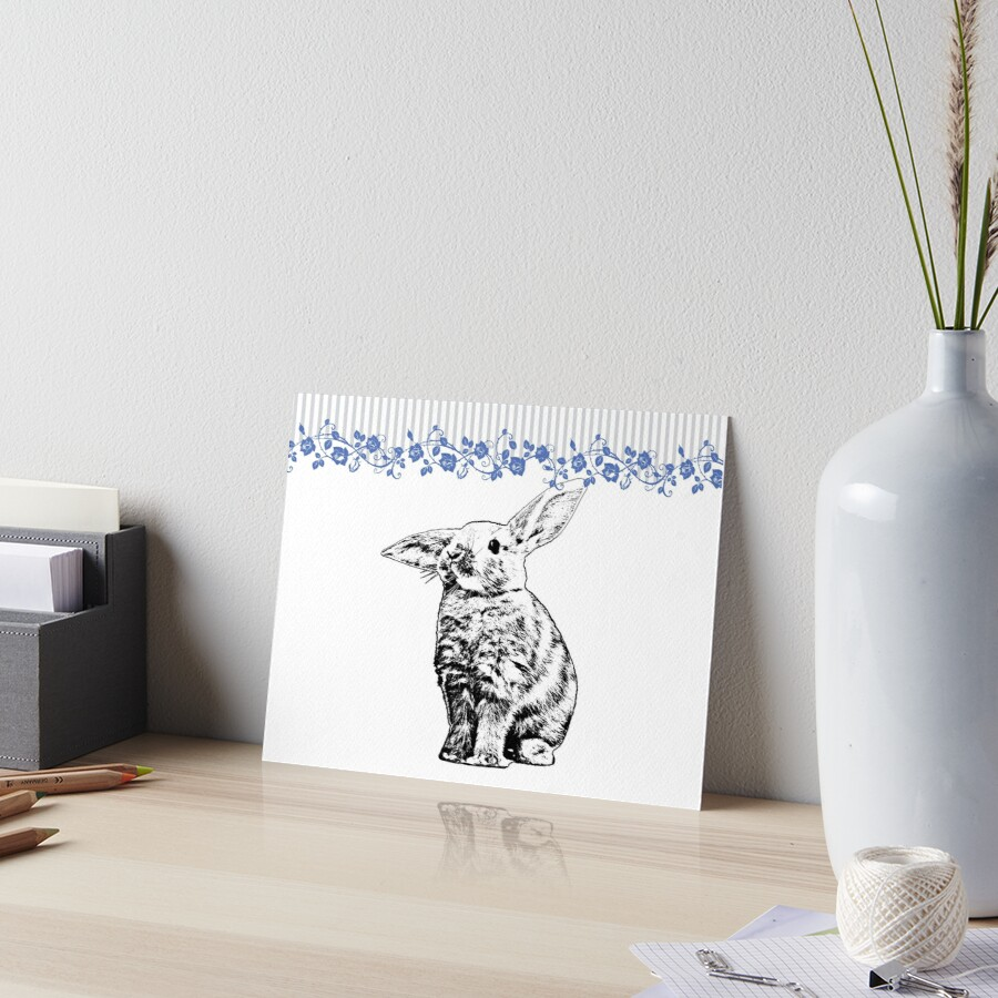 Bunny - Critter Love Collection 3 of 6 Art Board Print