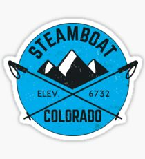 STEAMBOAT SPRINGS COLORADO Ski Skiing Mountain Mountains Skiing Skis Snowboard Snowboarding 2 Sticker