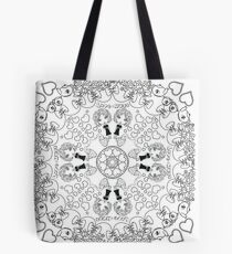 Love and Hugs - DIY Color!  Tote Bag