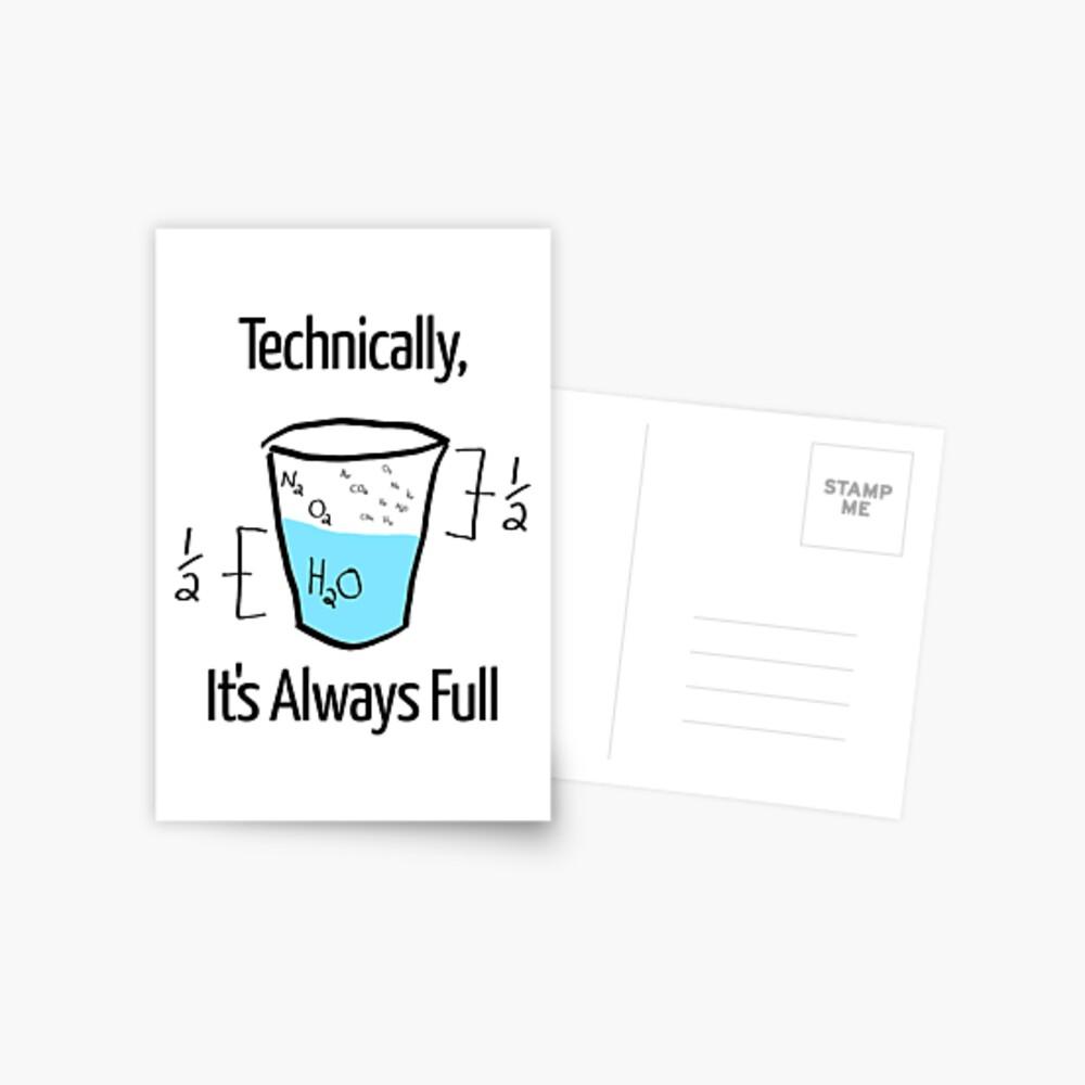 Die Wissenschaft ist optimistisch Postkarte