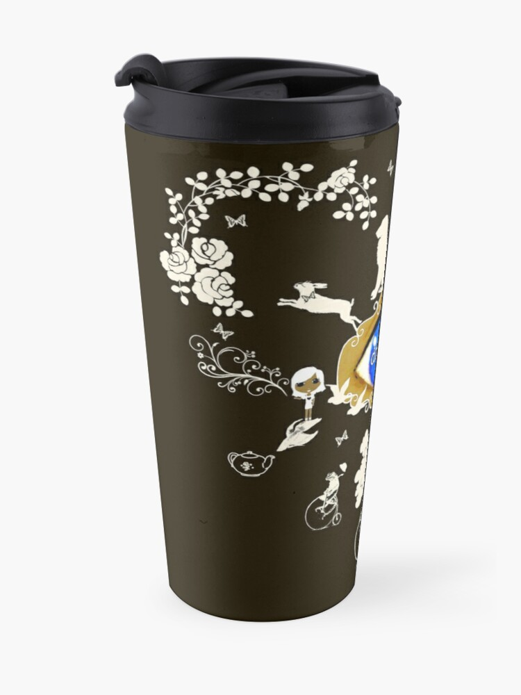 Alternate view of I Dream In Color - Light Silhouettes on Dark Brown Travel Mug