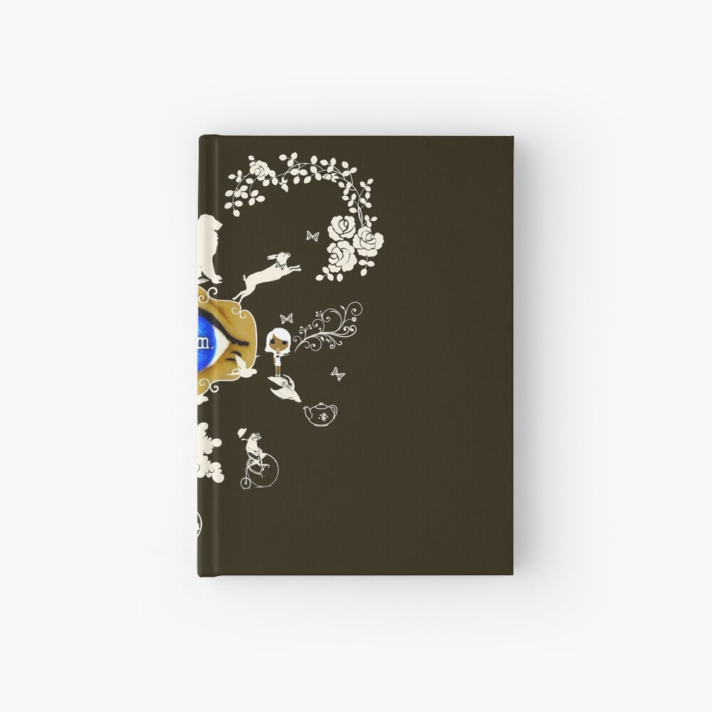 I Dream In Color - Light Silhouettes on Dark Brown Hardcover Journal