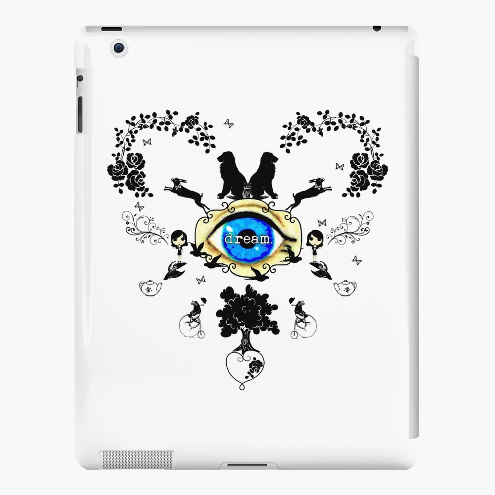 I Dream In Color - Black Silhouettes on White iPad Case & Skin