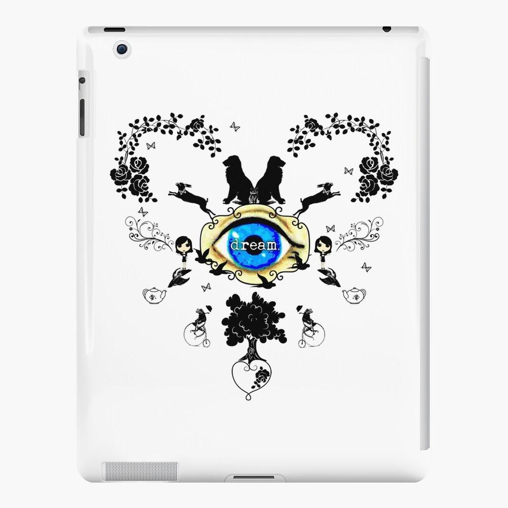 I Dream In Color - Black Silhouettes on White iPad Case & Skin