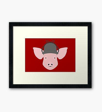 NDVH Pig Wearing a Deerstalker Framed Print