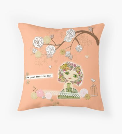 Be Your Beautiful Self Throw Pillow