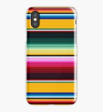 Colorful Mexican Poncho pattern iPhone Case/Skin