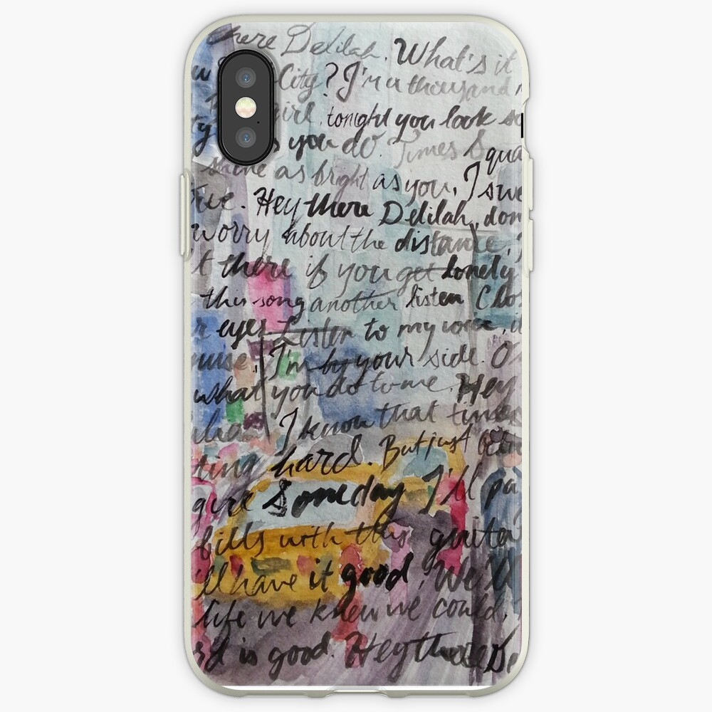 Hey There Delilah Lyrics iPhone-Hüllen & Cover