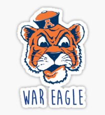 Aubie says War Eagle Sticker
