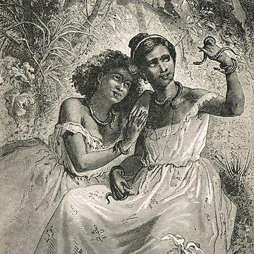 Brazilian girls playing with snakes by artfromthepast