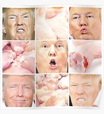 Donald Trump Raw Chicken Poster