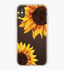 Polygonal Sunflower iPhone Case