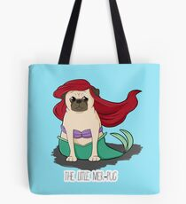 The Little Mer-Pug Tote Bag