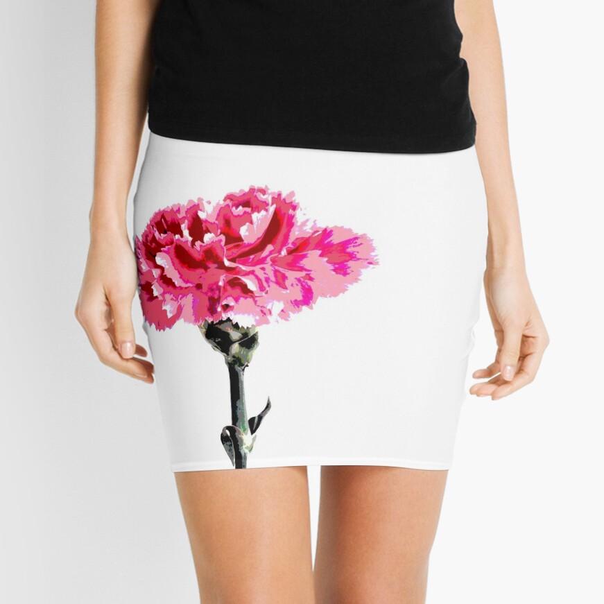 Psychedelic carnation Mini Skirt