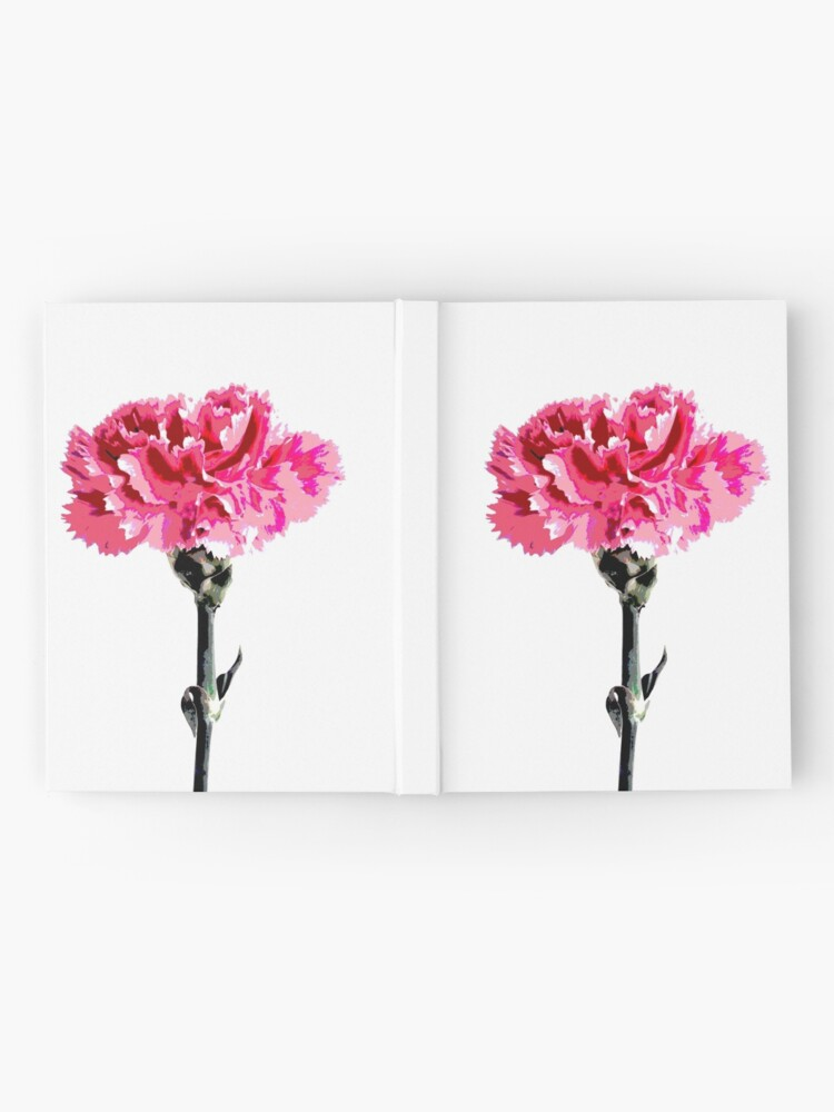 Alternate view of Psychedelic carnation Hardcover Journal