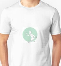 Paint Brush Warrior-green Unisex T-Shirt