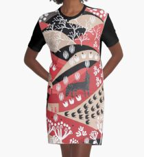 Wolf's Promise Land Graphic T-Shirt Dress