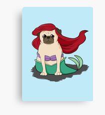 The Little Mer-Pug version 2 Canvas Print