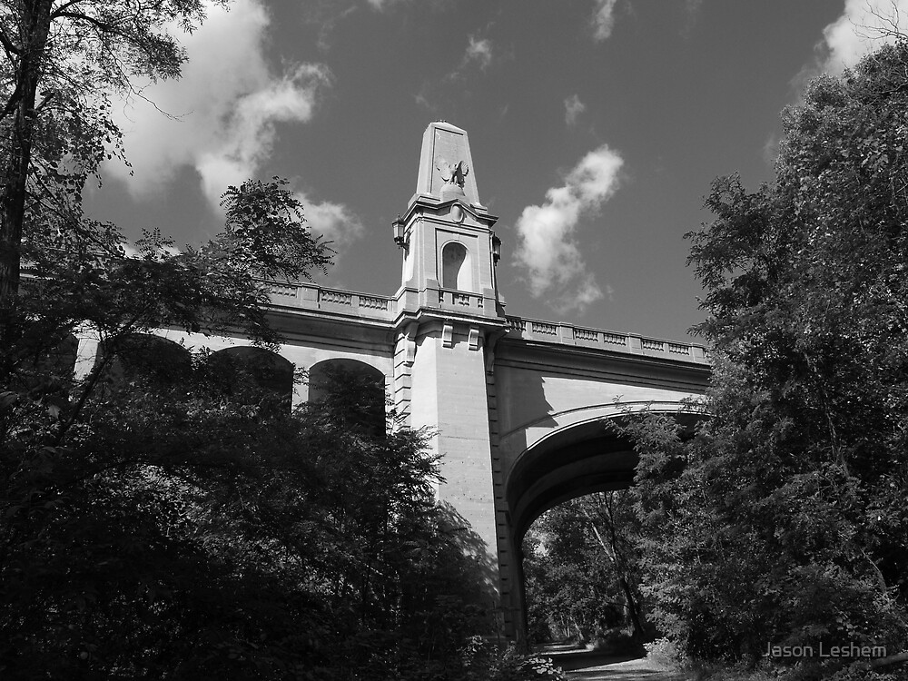 Bridge in Black and White by Jason Leshem