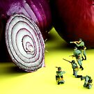 Military Training With Red Onion by Paul Ge