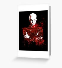 Splatter Spike Greeting Card