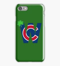 Cubs W with Red/Blue C Irish Edition iPhone Case/Skin