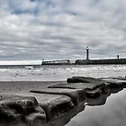 Whitby stepping stones by Mike Higgins